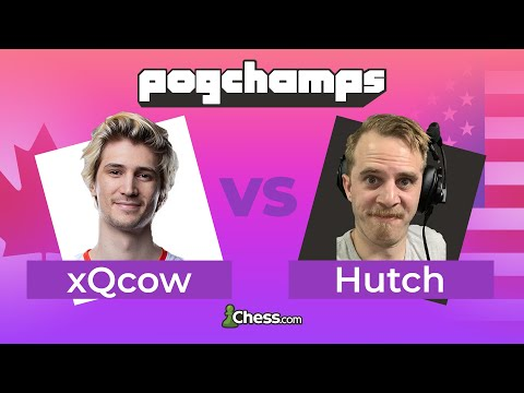 @xQcOW Has Less Than 1 Minute On The Clock vs @Hutch! | Chess.com PogChamps