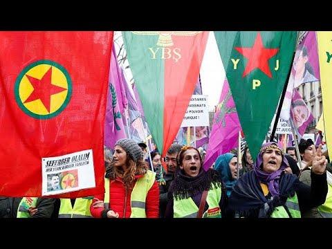 Ελλάδα: Διαμαρτυρία Κούρδων στη γαλλική πρεσβεία