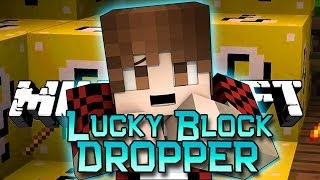 Minecraft: Lucky Block DROPPER! Modded Mini-Game w/Mitch&Friends!
