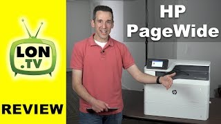 Find one here: http://lon.tv/avx8t (affiliate link) - HP introduced a new printing technology a few years ago called PageWide. They print with ink but are as fast as laser printers. Now the printers are being sold at the same price or less as laser.  See more printers: http://lon.tv/printers and subscribe! http://lon.tv/sVIDEO INDEX:00:51 - How Pagewide works01:07 - Pagewide printer models and pricing01:30 - Quick color print test02:15 - Hardware overview02:29 - Uses ink vs. toner02:35 - Ink replacement cost02:56 - Cost comparison with my laser printer03:22 - Estimating capacity of cartridges03:44 - Power consumption vs. laser04:24 - Paper handling05:07 - Private printing functionality (pin or password)05:25 - Print quality06:12 - Who is a Pagewide printer for? Comparison to regular inkjet07:21 - Conclusion and final thoughtsPagewide is an ink jet technology but rather than having a head go back and forth over the page the printer sprays the ink directly on the full width of the page as it flows through the printer. The result is much faster print times that are comparable to what can be expected from a laser printer. There also might be cost advantages as well - especially for offices that print a large volume of documents. I found the replacement cost for the four cartridges to be about $940 for roughly 15,000 or so pages. That's much less expensive than the $2400 I'd have to spend to get the same amount of equivalent toner I would use in my LaserJet color printer to achieve the same page count. Large offices may see some energy savings if multiple printers are in use.Those printing infrequently will still want to stick with laser. I also found the output quality to be closer to a mid to high end ink jet printer and not as sharp as I've seen from lasers. But ink jets do print photos that are embedded in documents a little better than lasers do. But for business graphics and text laser is still hard to beat.Subscribe to my email list to get a weekly digest of upcom