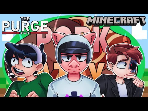 The Purge Minecraft SMP... *IT'S PURGE DAY TODAY!* [LIVE] 🔴