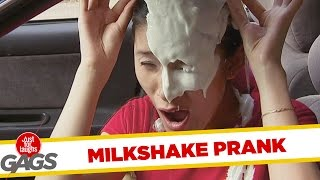 Milkshake Fall on Driver - Throwback Thursday, Just for laughs, Just for laughs gags, Just for laughs 2015