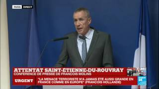 Saint-Etienne-du-Rouvray France  City new picture : REPLAY - Intervention de François Molins après l'attentat de Saint-Etienne-Du-Rouvray