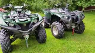 8. 2016 vrs 2007 Yamaha Grizzly 700 comparison walk around