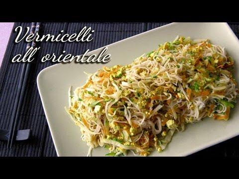 Spaghetti di riso all'orientale