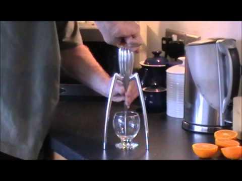Mr Waite tests Philippe Starck's Juicy Salif