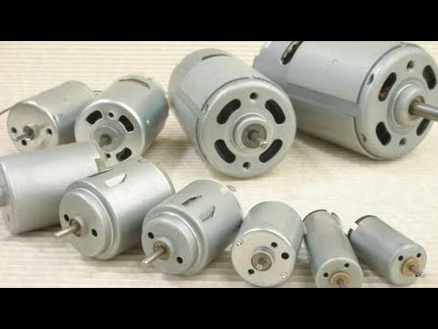DC MOTOR & DIFFERENT SIZES MOTORS