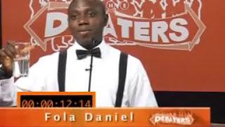 Debaters TV Reality Show (Fola Daniel) Nigeria's Population {Created By Mo Abudu, GT Bank}