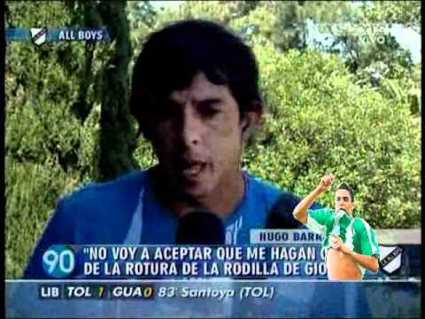 Lesionado Giovanni Moreno Habla Hugo Barrientos