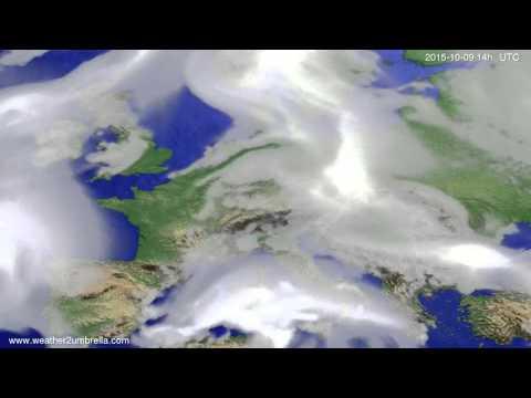 Cloud forecast Europe 2015-10-05