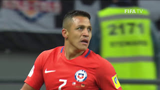 Watch highlights of the match between Germany v Chile from the FIFA Confederations Cup 2017 in Russia.