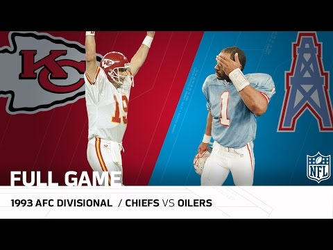 1993 AFC Divisional: Montana Upsets the Oilers | Chiefs vs. Oilers | NFL Full Game