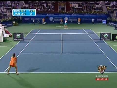 Kaia Kanepi vs Jelena Jankovic, WTA Dubai 2009