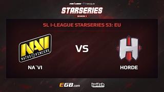 Natus Vincere vs Horde, Game 1, SL i-League StarSeries Season 3, EU