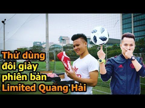 Thử Thách Bóng Đá Đỗ Kim Phúc test đôi giày mới của Quang Hải U23 Việt Nam thử Skills & sút ghi bàn - Thời lượng: 10:01.
