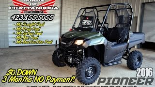 8. 2016 Pioneer 700 Review of Specs - UTV SALE @ Honda of Chattanooga TN / GA / AL - SXS700M2