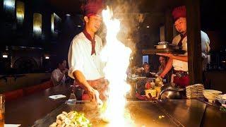 Video Teppanyaki LOBSTER & STEAK - Amazing Knife Skills and Fire Cooking in Waikiki, Hawaii! MP3, 3GP, MP4, WEBM, AVI, FLV September 2019