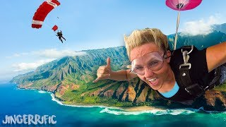 FREE FALLING OVER THE OCEAN! WE FINALLY JUMPED!
