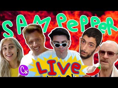 Cx vs. TWITCH EVAN (CX COURT)   Sam Pepper Live Stream
