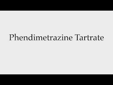 How to Pronounce Phendimetrazine Tartrate