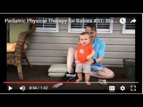 Pediatric Physical Therapy for Babies #31: Standing Balance