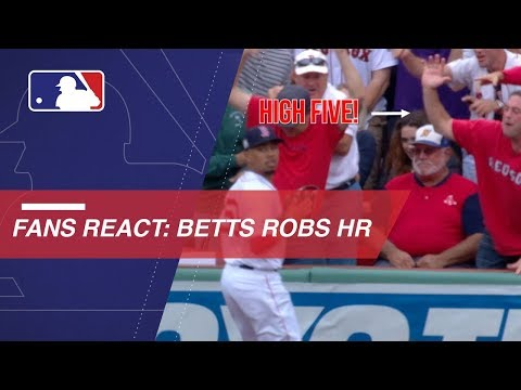Video: Fans react to Betts' home run robbery
