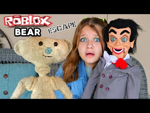 ROBLOX BEAR in REAL LIFE! 🐻 Can AUBREY & CALEB ESCAPE the SCARY BEAR from ROBLOX?