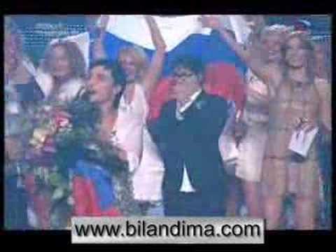 Dima Bilan - victory on Eurovision 2008, победа Димы (видео)