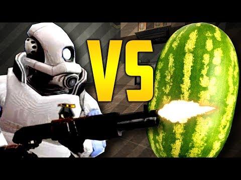 Shotgun vs WATERMELON?? (Garry's Mod Prop Hunt) (видео)