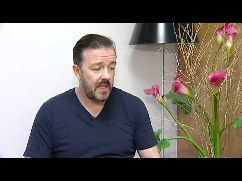 Ricky Gervais talks about hosting the Golden Globes again - NEW INTERVIEW Video