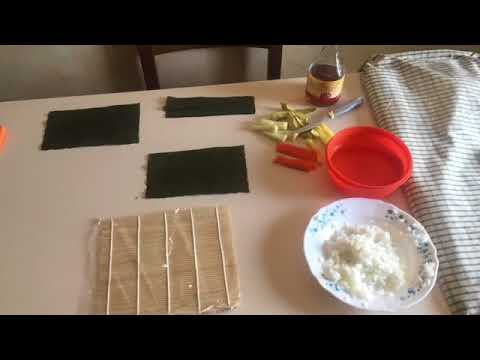 Uramaki vegan - tutorial veloce
