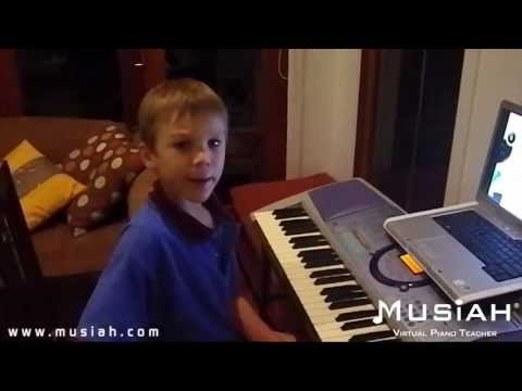 Piano Video: Online Piano Lesson #32 Twinkle Twinkle played by Jackson