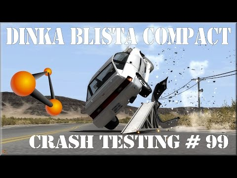 BeamNG Drive Alpha Pre-Race Update 0.3.3 GTA IV 'S Dinka Blista Compact Crash Testing #99 HD