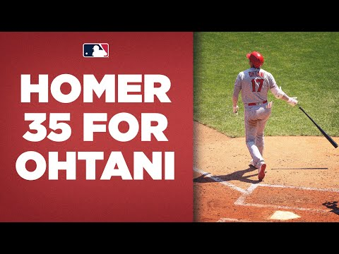 Shohei Ohtani hits homer number 35 FOR THE LEAD! (Majors home run leader CRUSHES this ball)