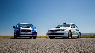 Ryan travels abroad to get a lap around the Isle of Man TT course with Mark Higgins, three-time lap record holder (four wheels). Then Ryan drives a Subaru Impreza Group N at an airfield and the new JMR NR4 Subaru STI rally car on a tarmac stage.