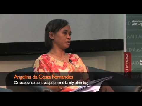 Angelina da Costa Fernandes On access to contraception and family planning