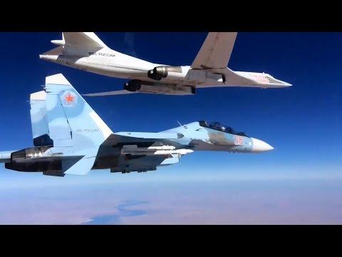 Сопровождение Су-30СМ ракетоносцев Ту-160