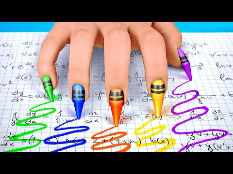 SNEAKING MAKEUP IN CLASS || Easy Crafts Funny Tips and Tricks DIY School Supplies by 123 GO! SCHOOL