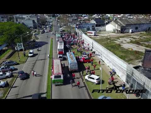 Caravana de MORON a Lanus #FitoDrone - Los Borrachos de Morón - Deportivo Morón