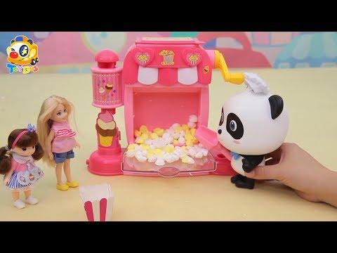 Magical Juice & Popcorn Machine   Baby Panda Chef   Kids Toy Story   ToyBus