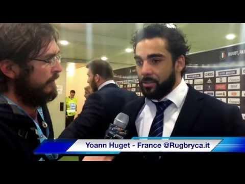 6 Nazioni 2015 - Yoann Huget al termine della partita Italia - Francia