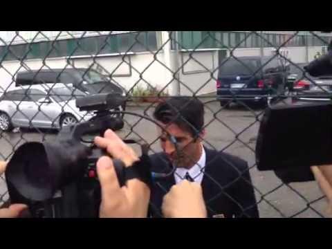 "Buffon a Malpensa: ""non parlo di Balotelli"""