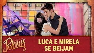 Luca e Mirela se beijam   As Aventuras de Poliana