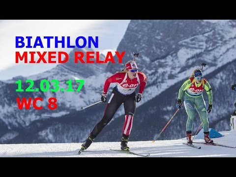 BIATHLON MIXED RELAY 12.03.2017 World Cup 8 Kontiolahti (Finland)