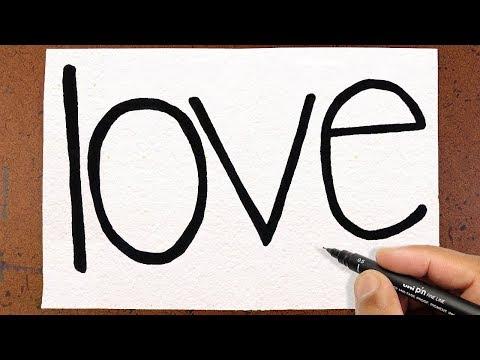 Transformar a palavra LOVE
