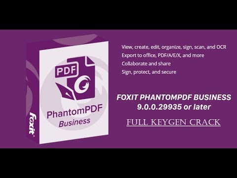 Foxit PhantomPDF 9 Business CRACK