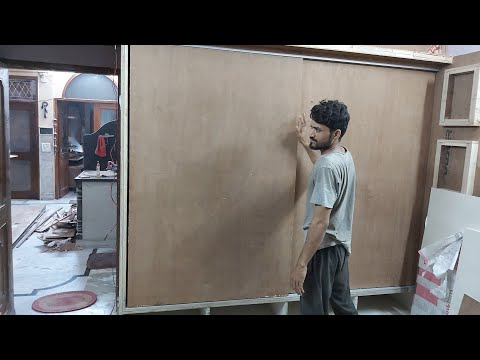 स्लाइडिंग wardrobe door 7' x 8' कैसे लगाते हैं? How to fitting sliding koltt channel into wardrobe