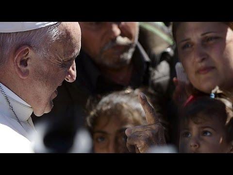 Λέσβος: Ισχυροί συμβολισμοί από την επίσκεψη του Πάπα Φραγκίσκου