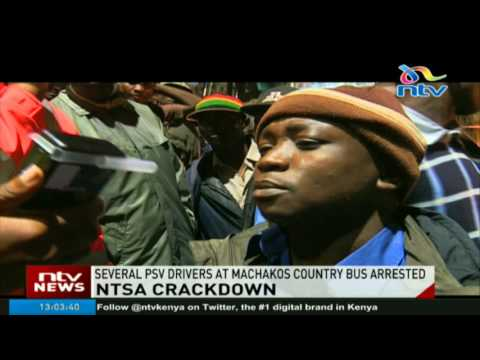 PSV drivers at Machakos country bus arrested in NTSA crackdown (видео)
