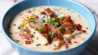 Instant Pot Summer Corn And Bacon Soup •Tasty by Tasty